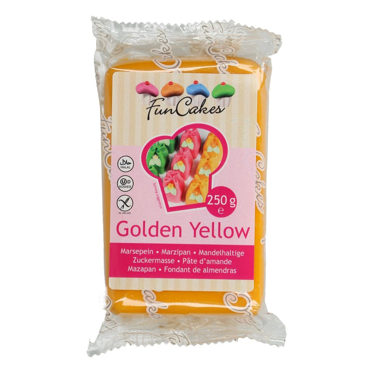 Marcipán FunCakes 250 g – Golden Yellow