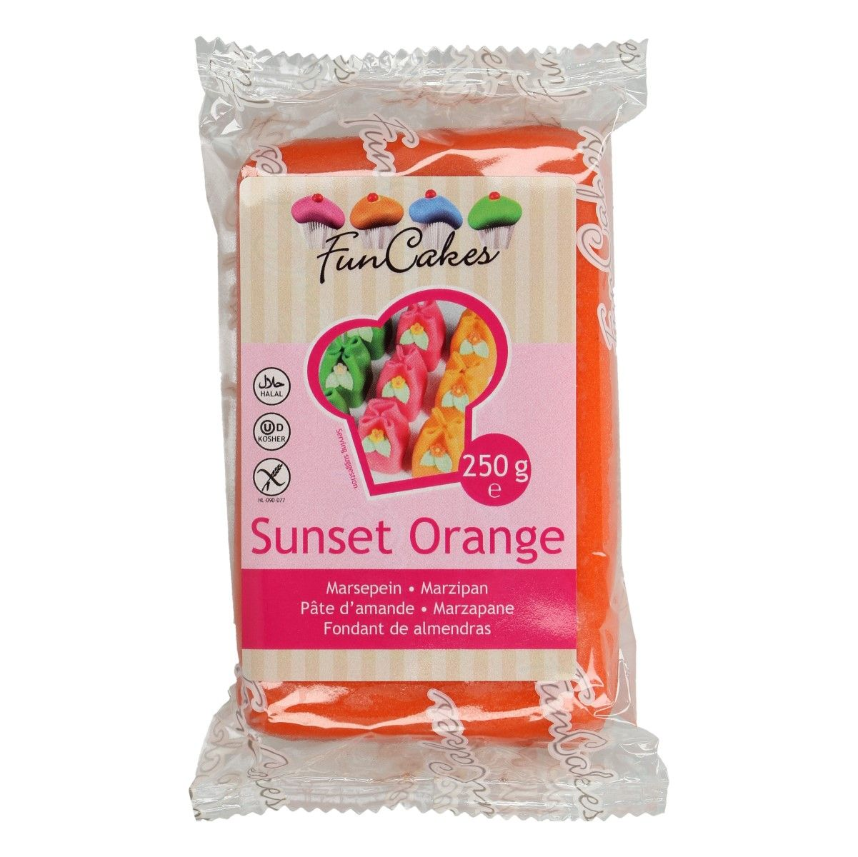Marcipán FunCakes 250 g – Sunset Orange